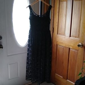 French Connection Black Sequin Dress Women's